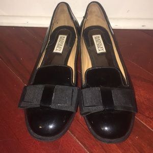 Badgley Mischka Patent Leather Flats with Bow